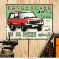 Range Rover Classic English Car Steel Sign_D
