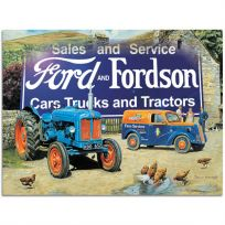 Ford  Fordson Cars Trucks Tractors Metal Sign