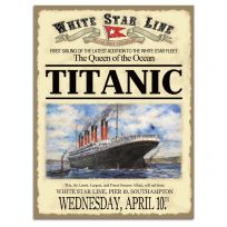 Titanic First Sailing Announcement Metal Sign_D