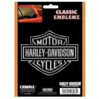 Harley-Davidson Bar and Shield Chrome Decal 6 x 8_D