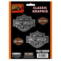 Harley-Davidson Bar and Shield Auto Decals Set of 4