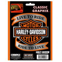 Harley-Davidson Bar Shield Live to Ride Auto Decal