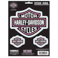 Harley-Davidson Pink Bar and Shield Auto Decal Set