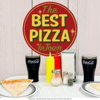 Best Pizza in Town Vintage Pizzeria Metal Sign_D