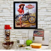 Harley-Davidson Nice Catch Fishing Babe Sign