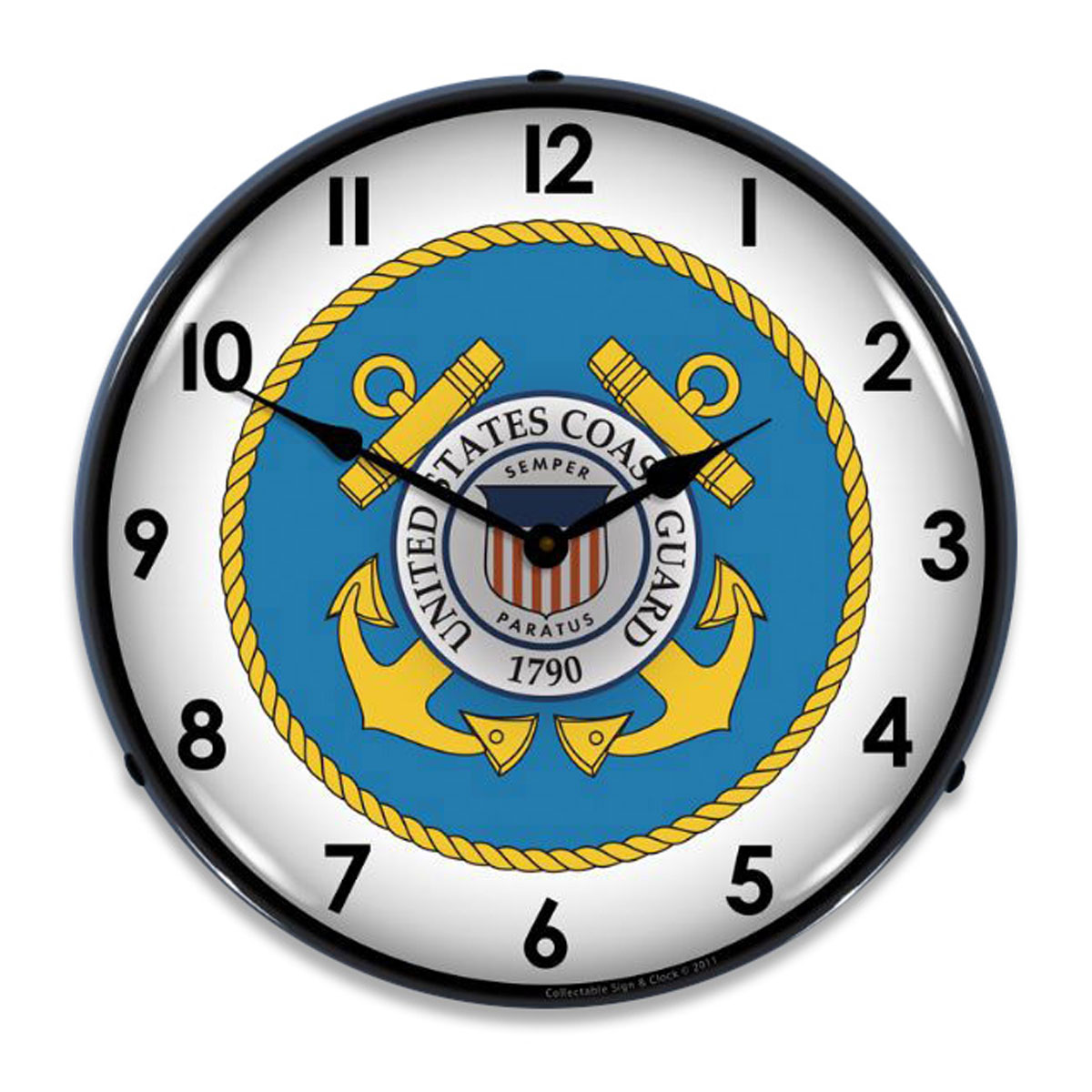 Us coast guard logo light up clock military clocks retroplanet amipublicfo Image collections