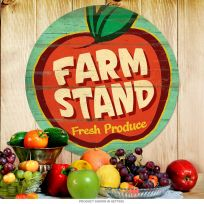 Farm Stand Fresh Produce Apple Metal Sign 14 in