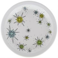 Atomic Starburst Reproduction Sputnik Salad Plate