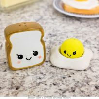 Egg and Toast Smiling Ceramic Salt and Pepper Shakers