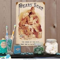 Pears Soap Order of the Bath Vintage Metal Sign