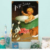Ivy Soap Goodwins Kid in Tub Vintage Bath Sign