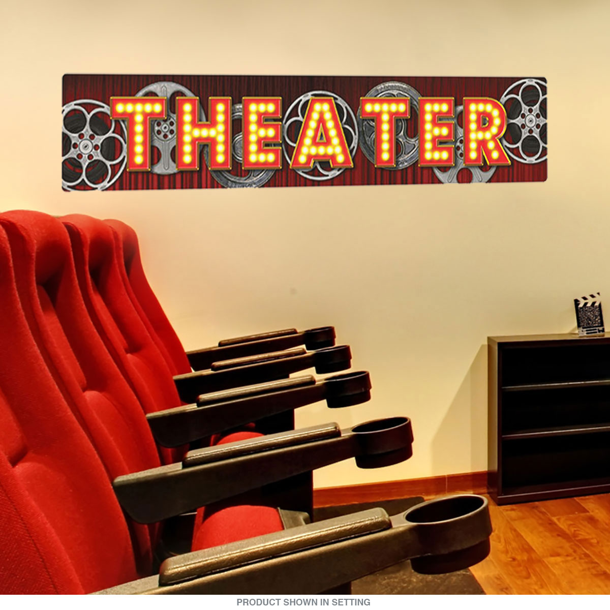 Theater Film Reels Wall Decal | Home Theater Decor | RetroPlanet.com