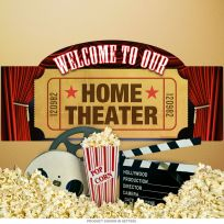 Welcome Home Theater Wall Decal