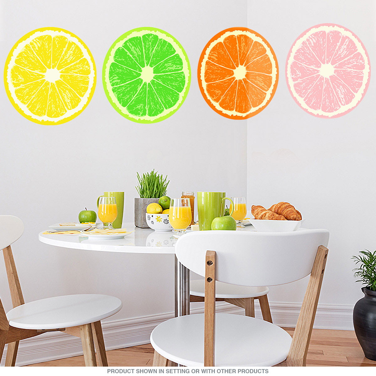 Orange Fruit Slice Citrus Kitchen Wall Decal Removable Wall Stickers Retroplanet Com