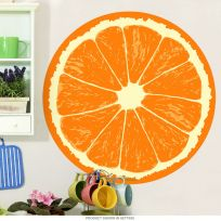 Orange Fruit Slice Citrus Kitchen Wall Decal