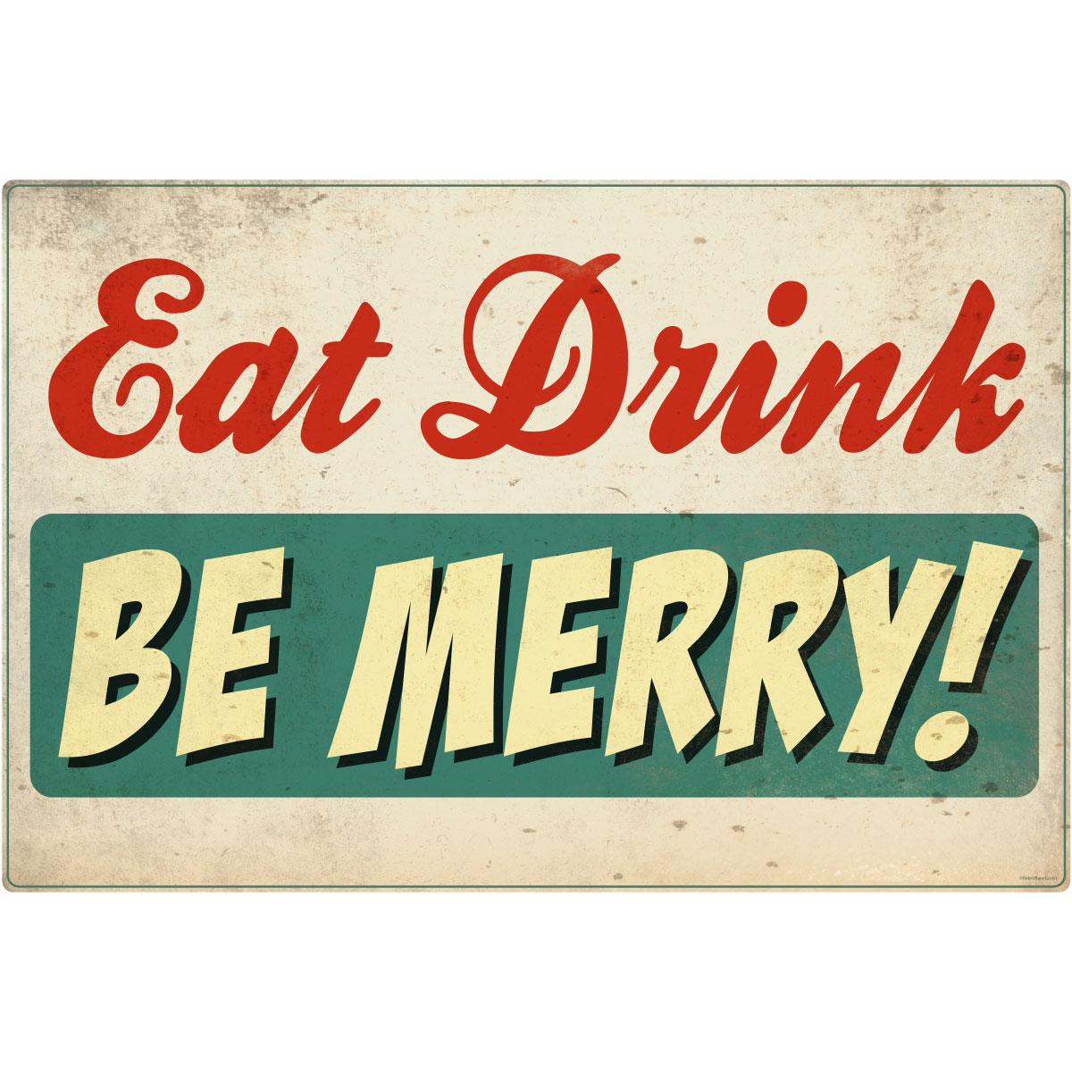 eat drink be merry wall decal distressed | restaurant decor