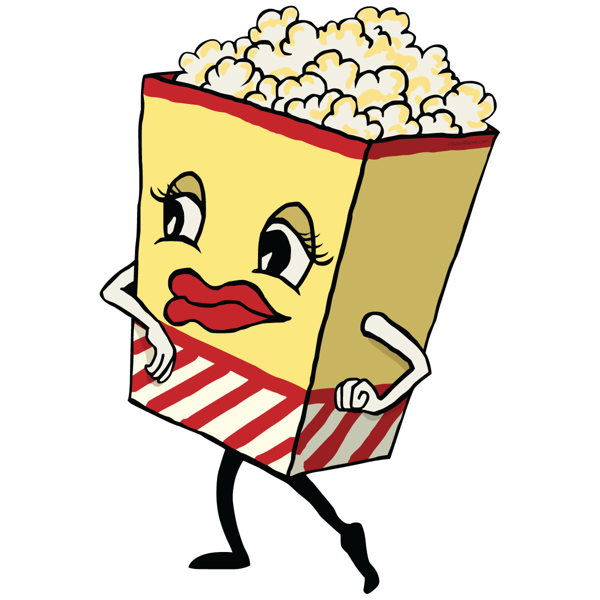 Popcorn Dancing Movie Snack Wall Decal | Home Theater Decor ...