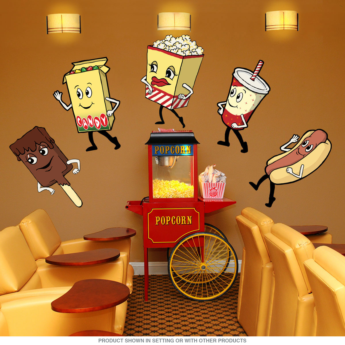 Candy Box Dancing Movie Snacks Wall Decal At Retro Planet
