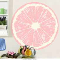 Grapefruit Fruit Slice Citrus Kitchen Wall Decal