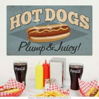 Hot Dogs Plump Diner Food Wall Decal