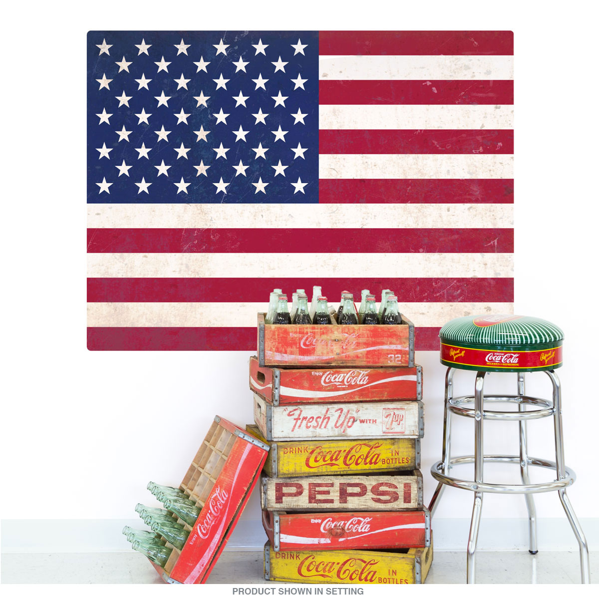 American Flag Old Glory Wall Decal At