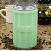 Coffee Kitchen Canister Depression Style Glass