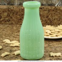Liberty Milk Bottle Depression Style Glass Green