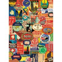 World Travel Stickers Crafting Mod Podge Scrapbook Gift Wrap_D