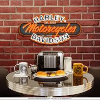 Harley-Davidson Motorcycles Neon Game Room Sign