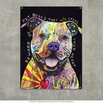 Beware Rainbow Pit Bull Dog Dean Russo Sign