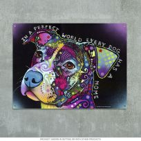 Perfect World Pit Bull Dog Dean Russo Sign