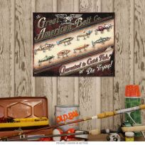 Great American Bait Co Fishing Lures Tin Sign_D
