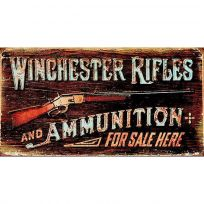 Winchester Rifles Ammunition For Sale Tin Sign