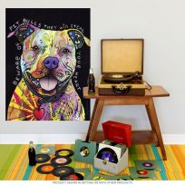 Beware Rainbow Pit Bull Dog Dean Russo Wall Decal