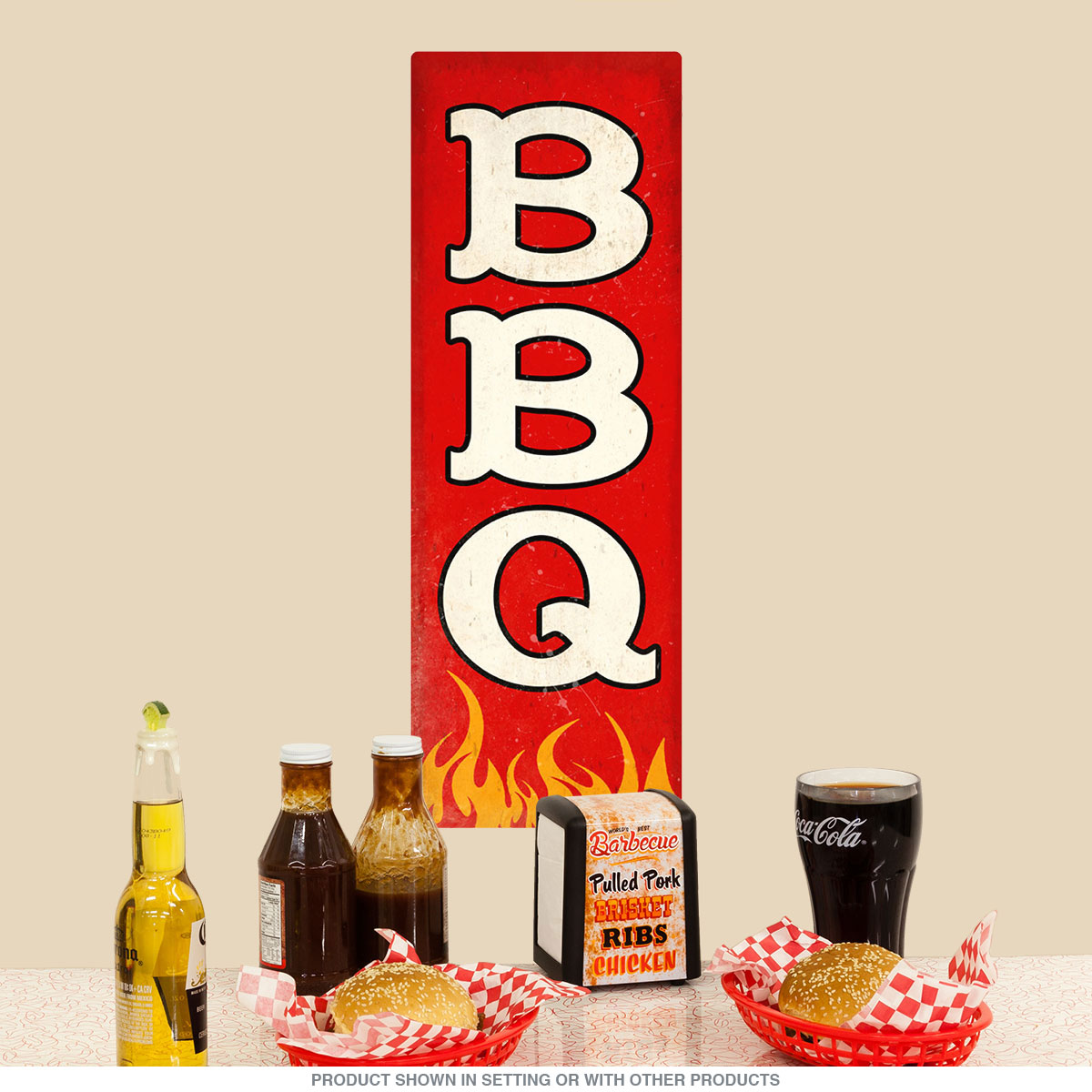 Image BBQ Flames Barbecue Wall Decal