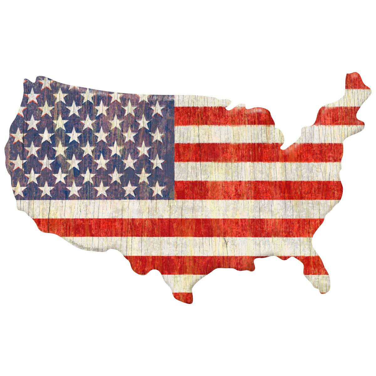 American Flag United States Map Wall Decal Patriotic Decor - Us map wall decal