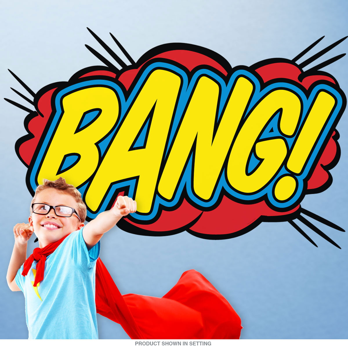 Bang Comic Book Sound Cutout Wall Decal at Retro Planet