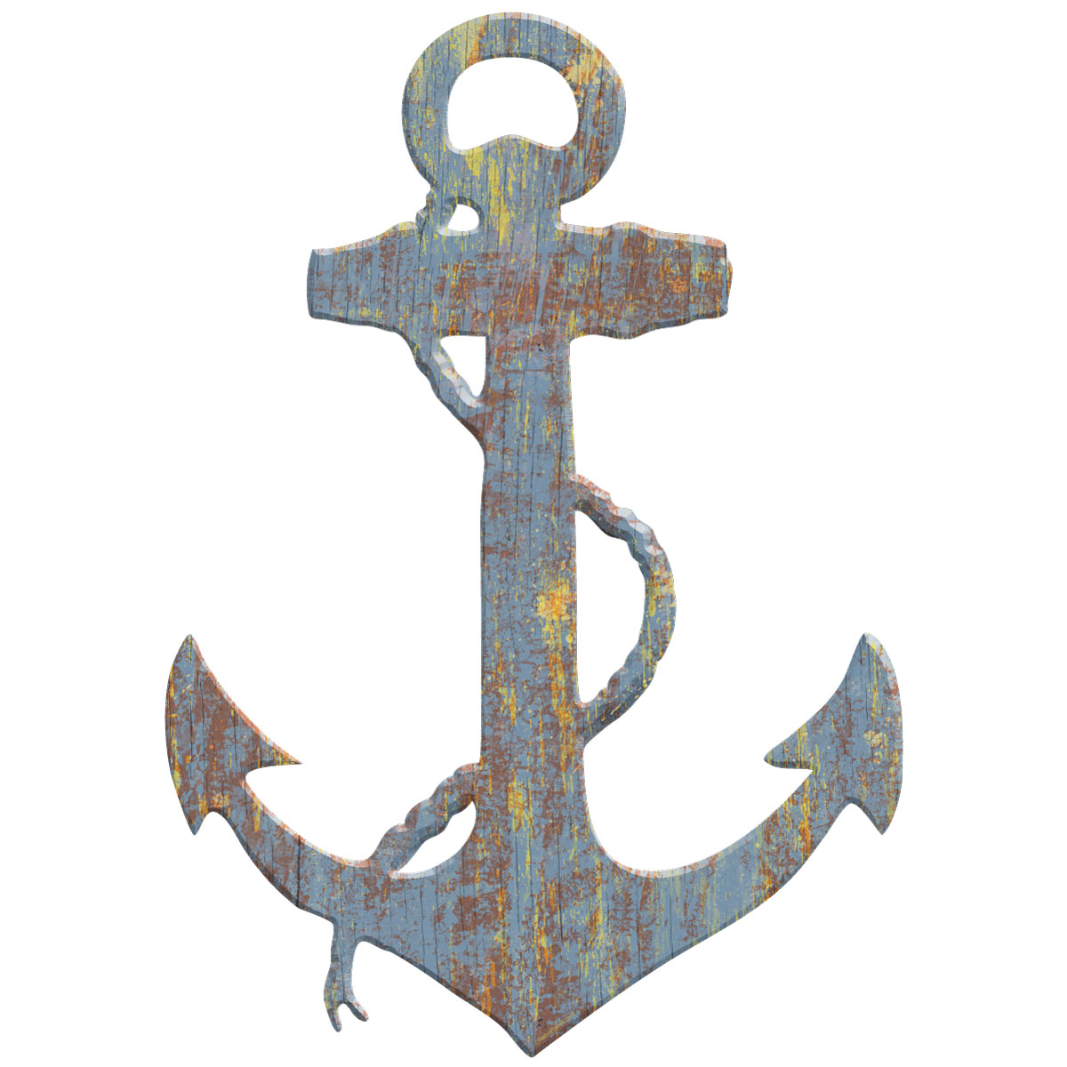Wooden Anchor Wall Decor anchor wood look cut out wall decal | beach wall decor