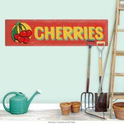 Cherries Farm Stand Red Label Wall Decal