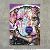 Baby Pit Bull Dog Dean Russo Pop Art Sign_D