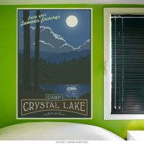 Camp Crystal Lake Friday 13th Wall Decal