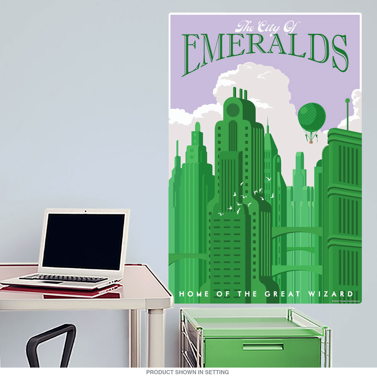 emerald city wizard of oz wall decal home theater decor offers in retro gifts and decor