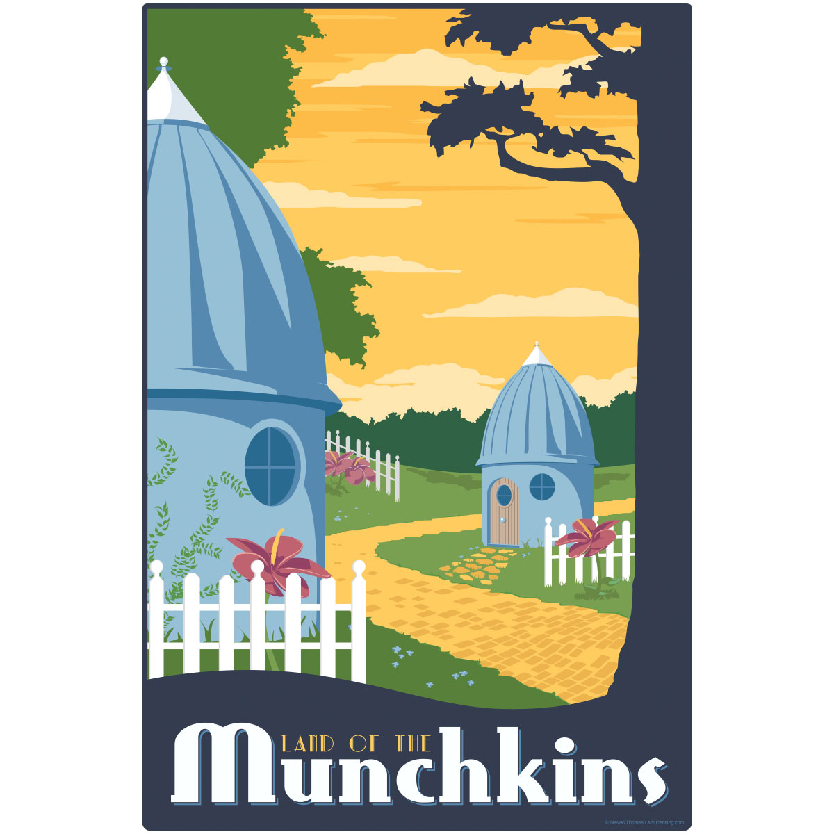 Munchkin Land Wizard of Oz Wall Decal | Home Theater Decor ...