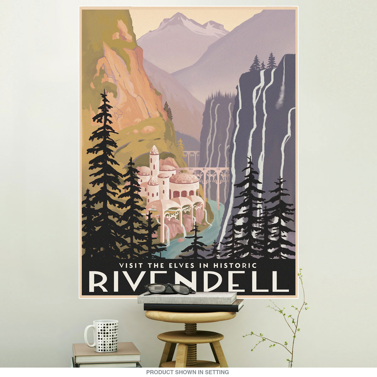 Rivendell lord of the rings wall decal home theater decor lotr wall decal zoom amipublicfo Choice Image