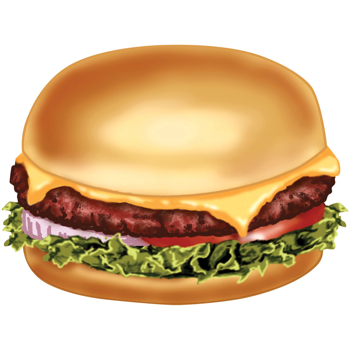 Cheeseburger Diner Food Cut Out Wall Decal | Kitchen Wall Art ...