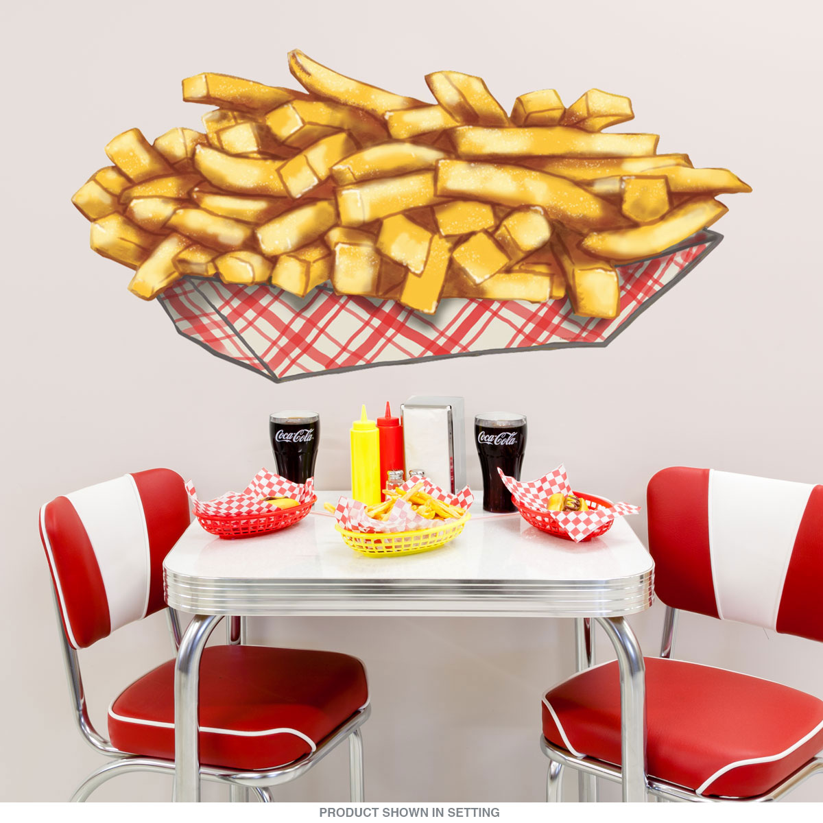 French Fries Diner Food Cut Out Wall Decal