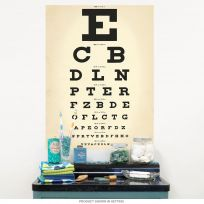 Eye Chart Doctors Office Wall Decal