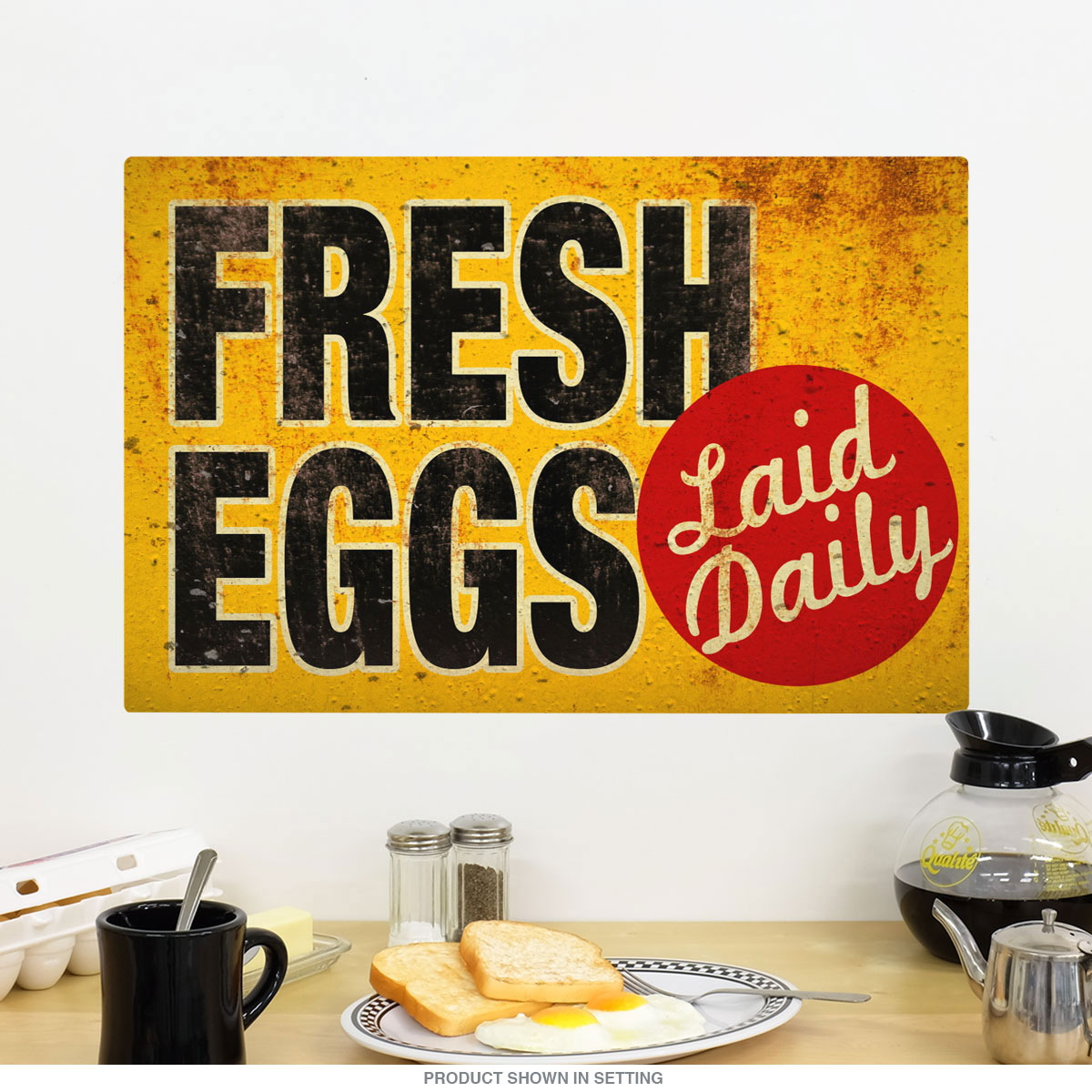Fresh Eggs Laid Daily Wall Decal | Country Kitchen Decor ...