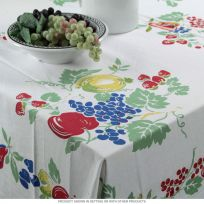 Vintage Style Fruit Square Tablecloth 52 x 52