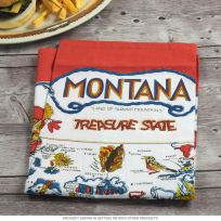 Montana State Map Souvenir Kitchen Towel